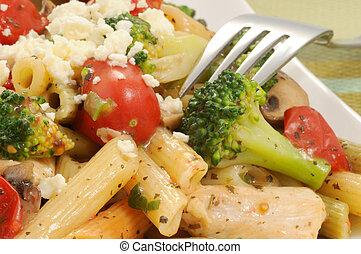 Mediterranean Chicken and Pasta - Delicious plate of ...