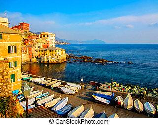 Genova, Italy - Mediterranean Coast in Genova, Italy