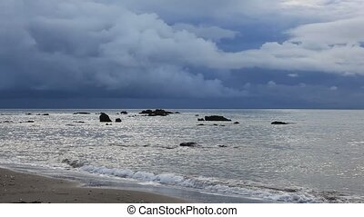 Mediterranean coast - Mediterranean coast at a cloudy day....