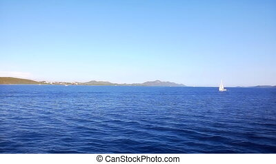Mediterranean coastline - Passing by the coast on island...