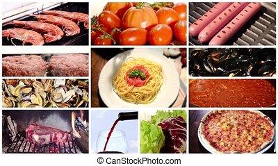 mediterranean cuisine, collage
