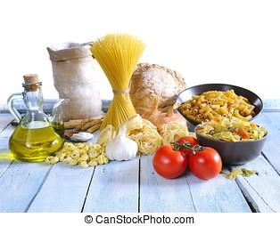 Mediterranean cuisine. - Mediterranean cuisine ingredients...
