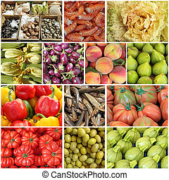 mediterranean diet collage