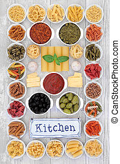 Mediterranean Diet Food - Mediterranean diet food selection ...