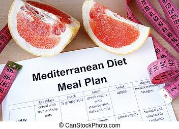 Mediterranean diet meal plan and grapefruit. Weight loss ...
