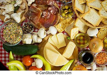 Mediterranean food ingredients