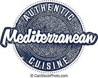 Mediterranean Food Restaurant Stamp