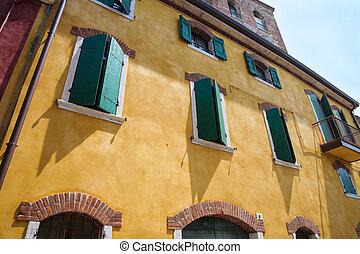 mediterranean house with shutters - Nice mediterranean house...