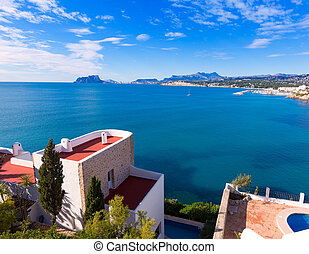 Mediterranean houses in Moraira Teulada at Alicante with...