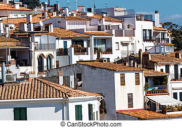 Mediterranean houses - Village houses in Costa Brava, Spain