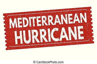 Mediterranean hurricane sign or stamp