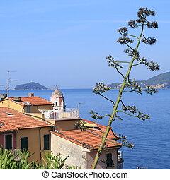 mediterranean idyll - borgo of Tellaro, Liguria, Italy,...