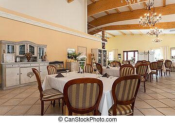 Mediterranean interior - dining space
