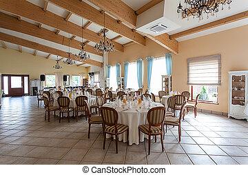 Mediterranean interior - elegant party