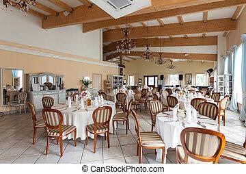 Mediterranean interior - luxurious restaurant