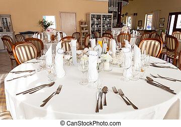 Mediterranean interior - table service