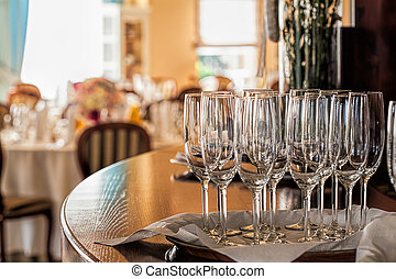 Mediterranean interior - table with glasses