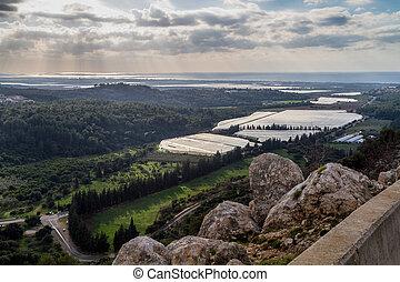 Mediterranean landscape, Upper Galilee, Israel -...