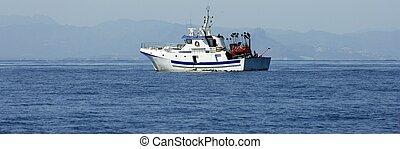Mediterranean longliner boat working in Alicante