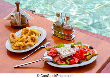 Mediterranean menu by the sea