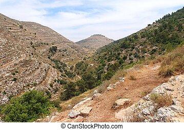 Mediterranean mountain landscape