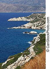 Coast near Elounda, Crete, Greece
