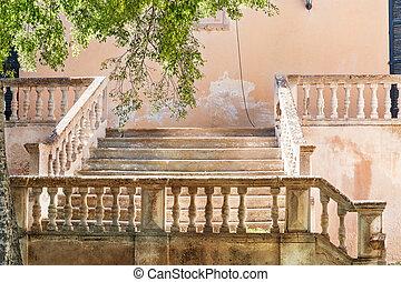 Mediterranean old stone stairs