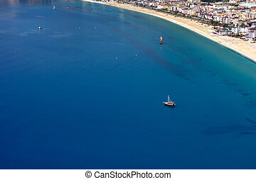 Mediterranean Sea . Alanya, Turkey