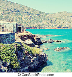 Mediterranean sea coast (Crete, Greece). - Beautiful...