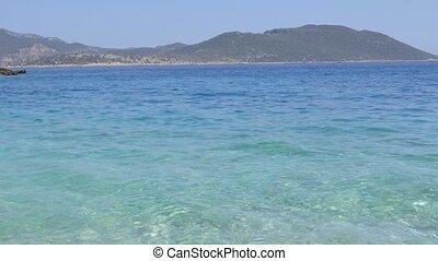 Mediterranean sea coast in Turkey