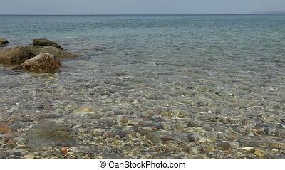 Mediterranean sea, Halkidiki - Day scene of mediterranean...