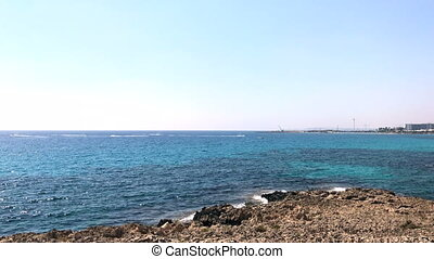 Mediterranean sea in Cyprus - Mediterranean sea near Nissi...