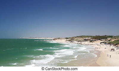 Mediterranean sea in Israel . - Beautiful views of the...