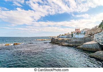 Mediterranean sea in Syracuse, Sicily, Italy
