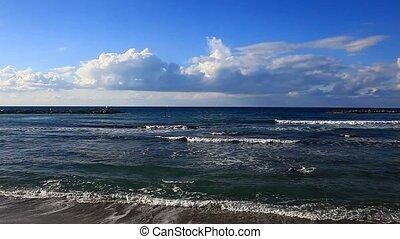 Mediterranean Sea, Tel Aviv. Israel.