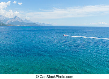 Mediterranean Sea with turquoise water in Kemer