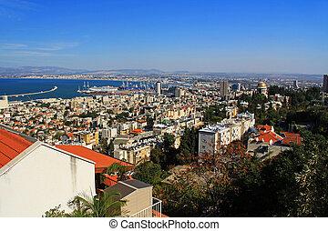Mediterranean seaport of Haifa Isra