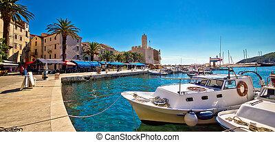 Mediterranean town of Komiza on Vis island