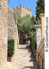 Mediterranean village of Capdepera - Urban scenic of the...