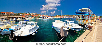 Mediterranean village of Sali on Dugi otok island panoramic view, Dalmatia, Croatia