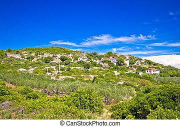Mediterranean village on Island of Vis