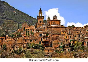 mediterranean village - a view of valldemossa, in mallorca,...
