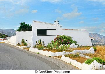 mediterranean village - a view of a little mediterranean...