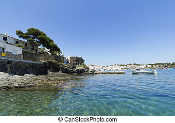 Mediterranean village. Costa Brava in Catalonia, Spain.