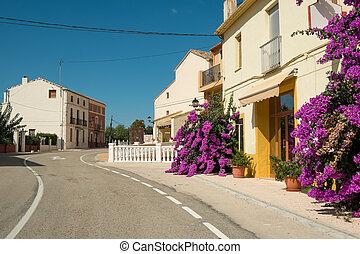 Mediterranean village - Road through a mountain village on...