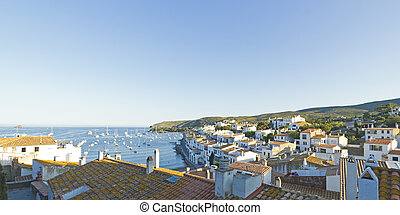 Mediterranean village - View of a typical whitewashed...