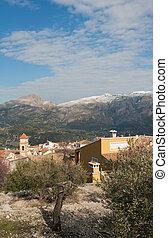 Mediterranean village - Winter landscape of a small...
