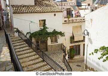 Mediterranean village street - Traditional Mediterranean...