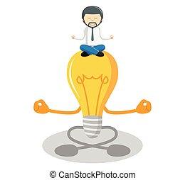 meditieren, idee, kaufleuten zürich