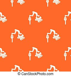Medium drill truck pattern vector orange